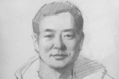 Актер Пу Цуньсинь. б.,карандаш. 2016 г. 42х29,7
