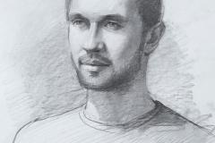 Портрет Алексея. б., карандаш. 2017 г. 42х29,7
