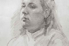 Портрет Лили, б.карандаш,2006 г. 45x55