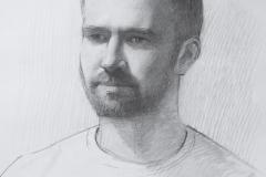 Портрет Михаила. б., карандаш. 2017 г. 42х29,7