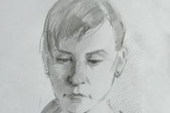 Портрет Ольги Менжилий. б., карандаш. 2016 г. 29,7х21