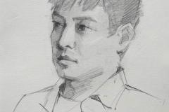 Портрет Сяо Дзи. б., карандаш. 2017 г. 20х14