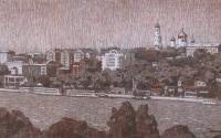 vid-na-rostov-s-levogo-berega-dona-bumaga-ugol-sangina-2013-g-40x100