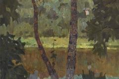 Между деревьев. 2016 г. х., м. 52х38