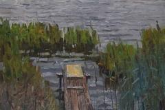 Осень. Река Мста. х., м. 2018 г. 63х47