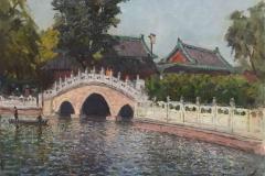 Пекинский парк, х.,м. 2017 г. 40х50