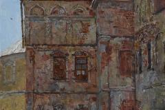 У стен храма. 2016 г. холст на картоне, масло. 60х40