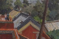 В пригороде Пекина. х.,м. 2018 г. 60х50