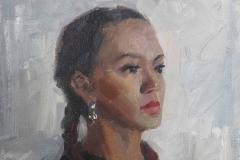 Портрет Ангиры. х.,м. 2019 г. 40х26