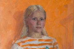 Портрет Лины. х.,м. 2019 г. 65х40