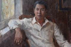 Портрет Сяо Ю. х.,м. 2018 г. 50х66