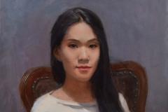 Портрет Фейры. х.,м. 2017 г. 60х50