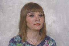 Портрет девушки. х.,м 2016 г. 60х50