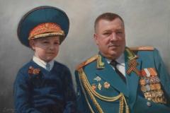 Портрет отца и сына. х.,м. 2017 г, 50х70