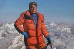 Портрет Ся Бойю. Покоритель Эвереста. х.,м. 2018 г. 200х130