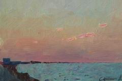 Крымский закат. к.,м. 2015 г. 12,5х17,5