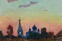Вечерний этюд. к.,м. 2015 г. 12,5х17,5